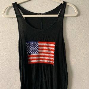 Brandy Melville Crocheted American Flag Tank Top